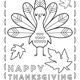 320x320 Thanksgiving Themed Coloring Pages Festival Collections