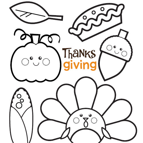 500x500 Themed Thanksgiving Coloring Pages Festival Collections