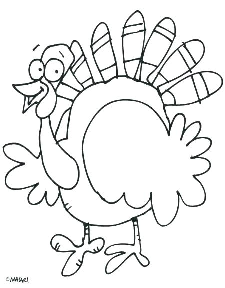 451x577 Thanksgiving Turkey Coloring Page Free Turkey Coloring Page