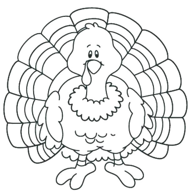 615x621 Astounding Turkey Coloring Pages Free Printable