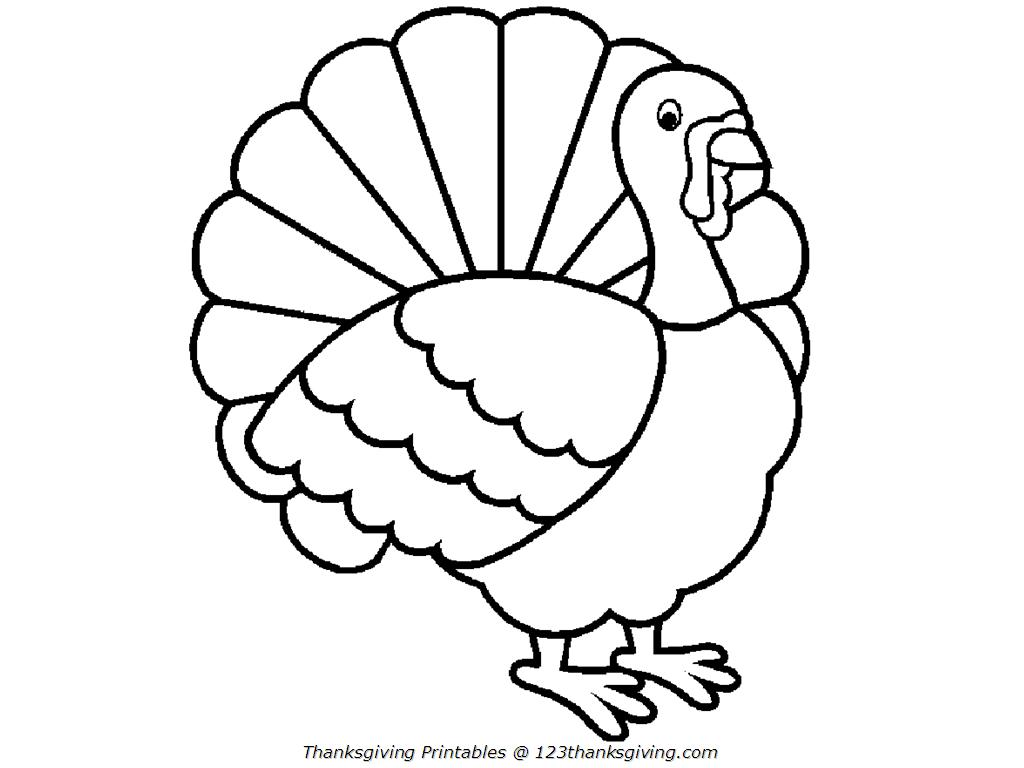 1024x768 Impressive Thanksgiving Turkey Coloring Sheet