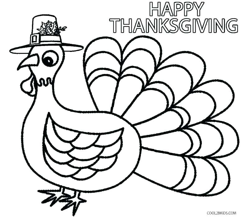 775x698 Kids Thanksgiving Coloring Pages Happy Thanksgiving Turkey