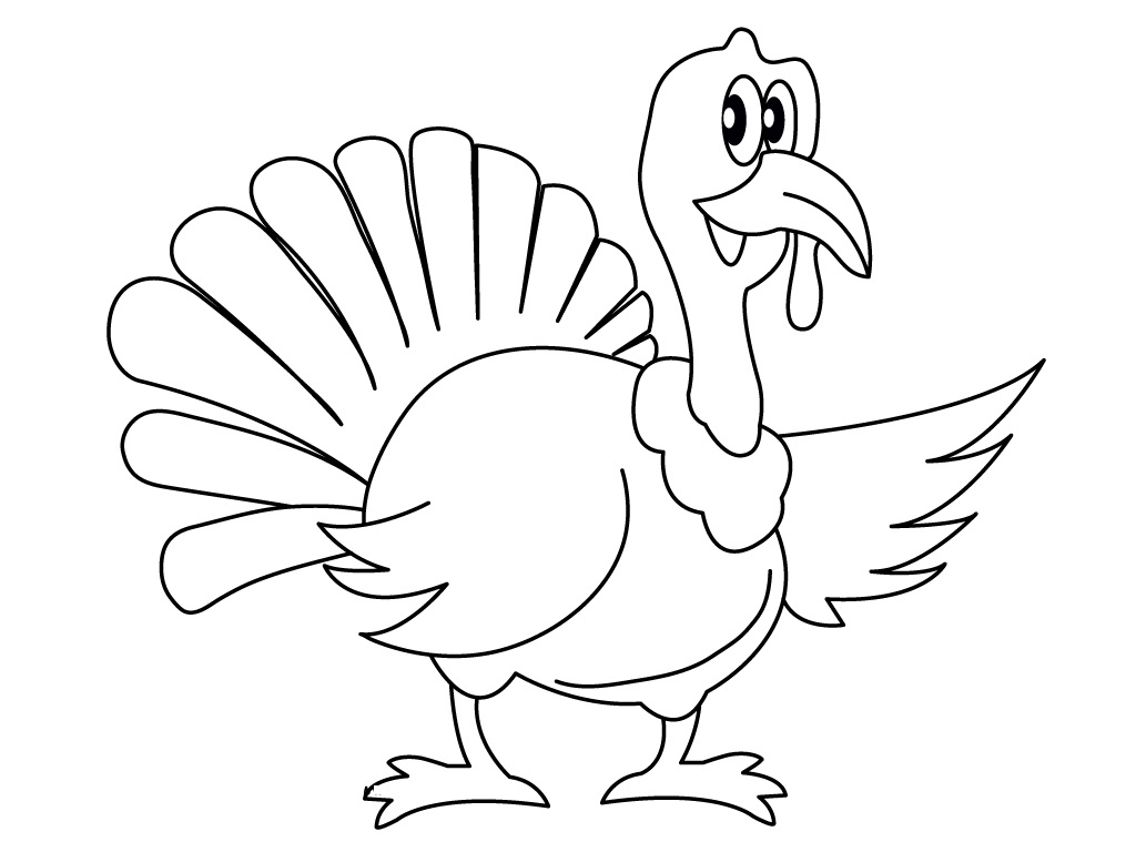 1024x768 Remarkable Ideas Turkey Coloring Pages Printable Thanksgiving