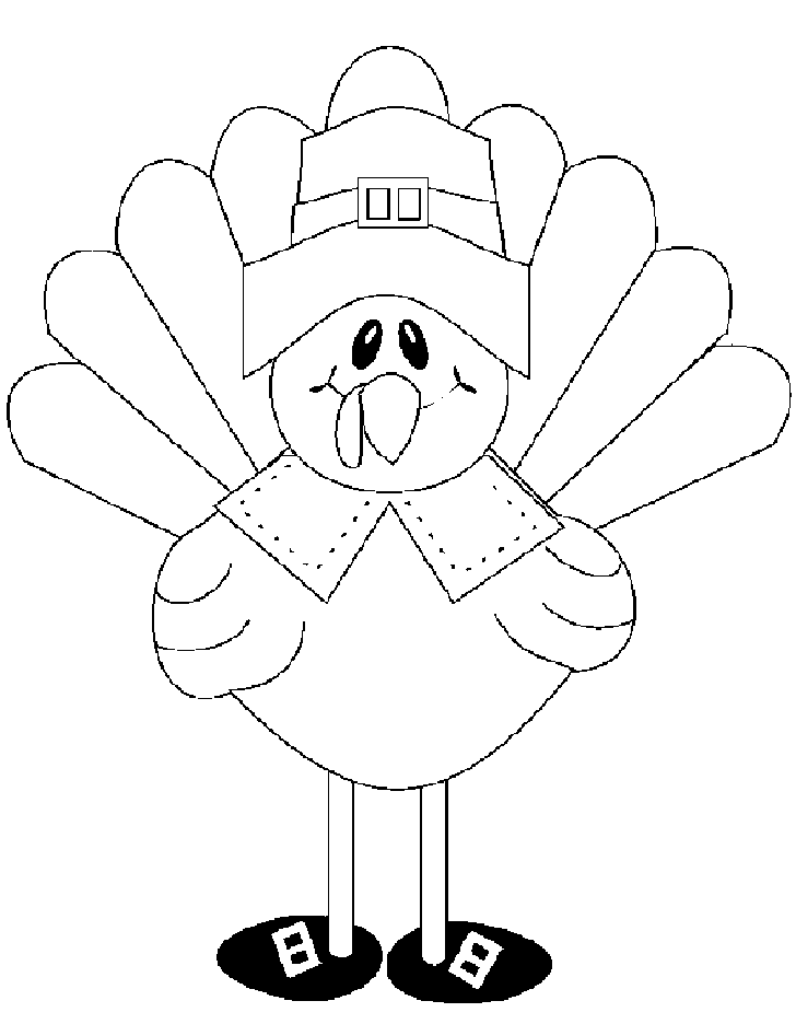 728x936 Thanksgiving Turkey Coloring Pages