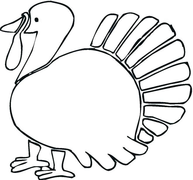 660x615 Turkey Coloring Picture Turkey Coloring Pages Christian