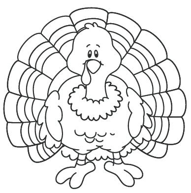 388x392 Turkey Coloring Sheets To Print Thanksgiving Turkey Coloring Pages