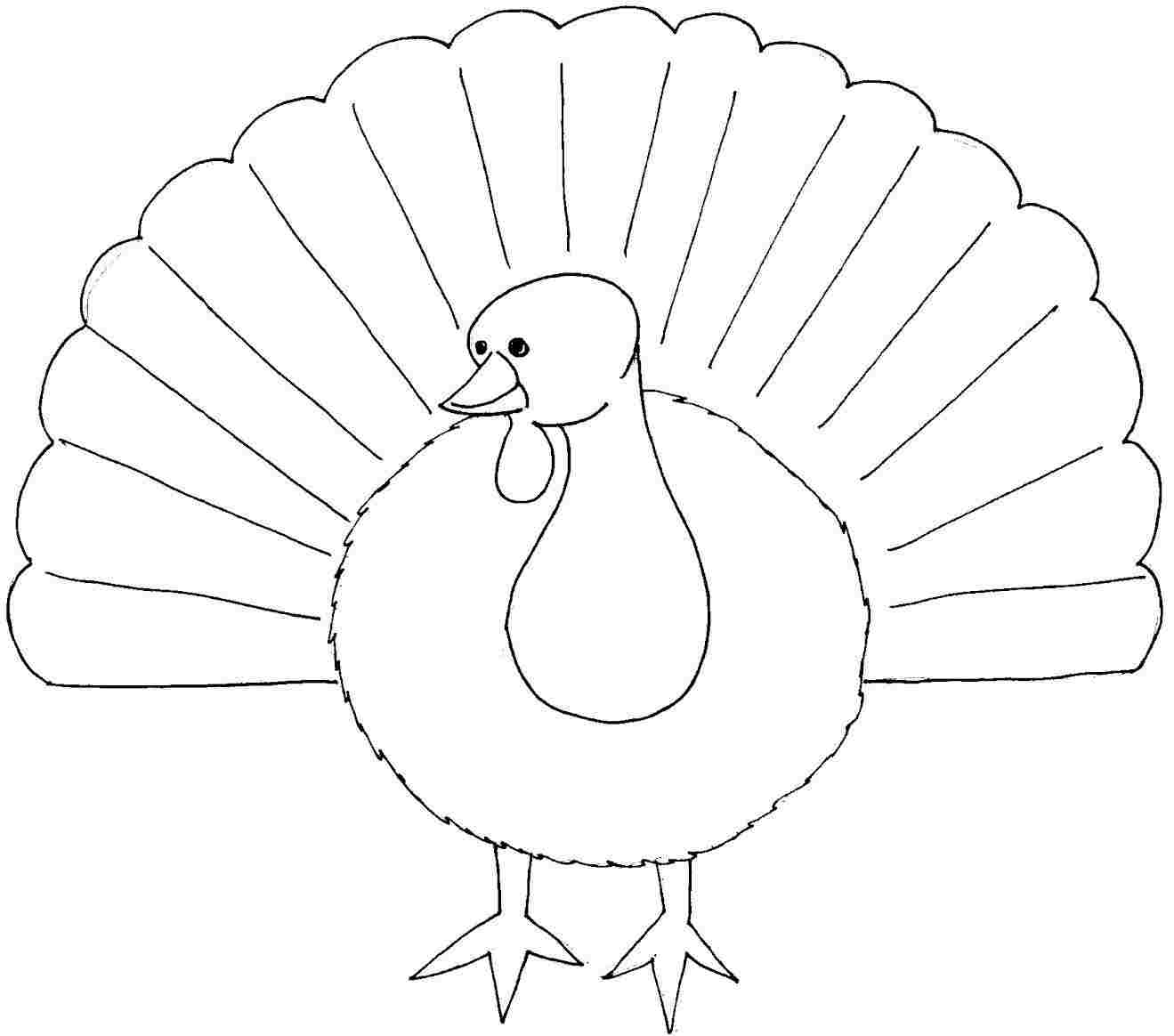 Thanksgiving Turkey Coloring Pages For Kids At Getdrawings Com