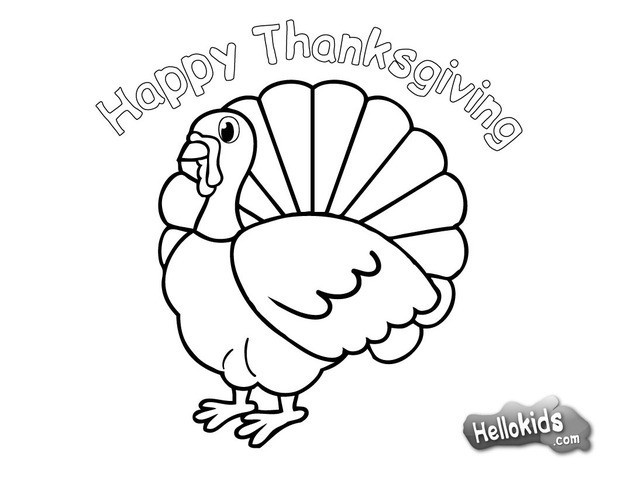 Thanksgiving Turkey Coloring Pages For Kids at GetDrawings.com ...