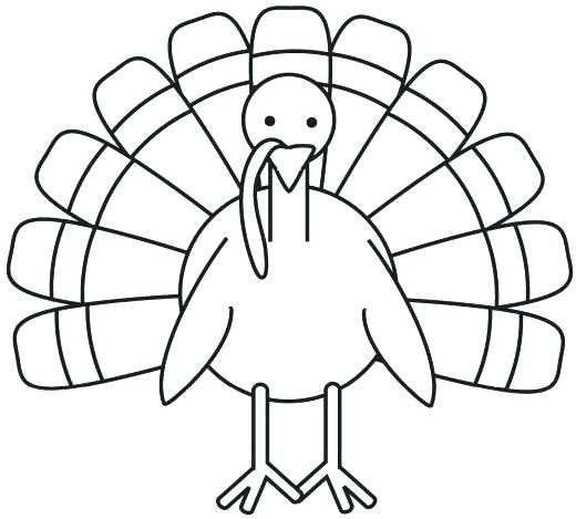 520x469 A Turkey Coloring Page Professional