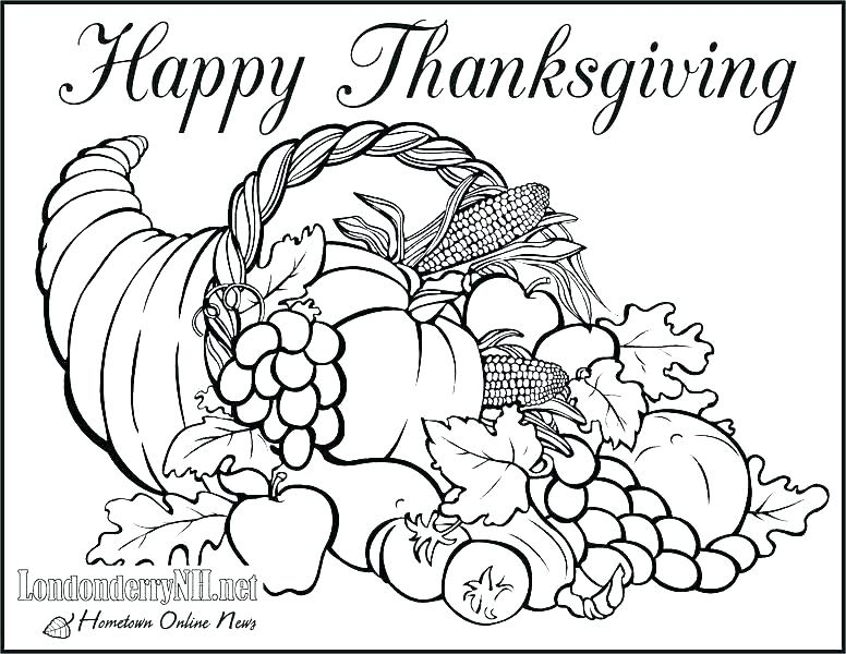 776x600 Coloring Pages Thanksgiving Dinner Icontent