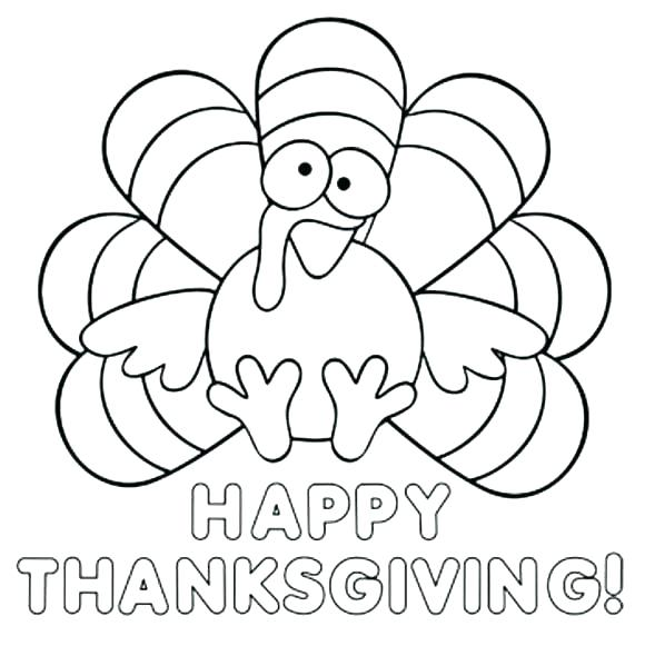 580x581 Thanksgiving Turkey Coloring Pictures
