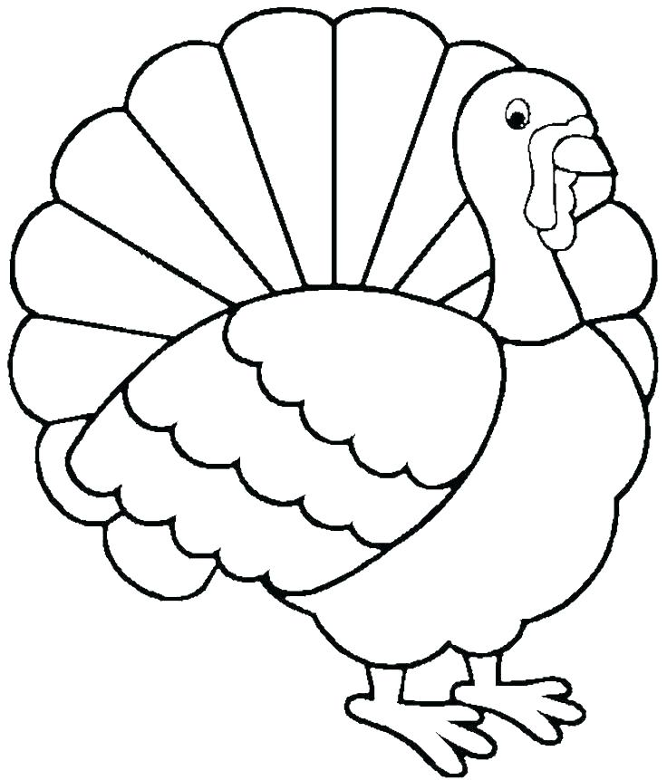736x861 Coloring Page Thanksgiving Turkey Coloring Pages Free Free Turkey