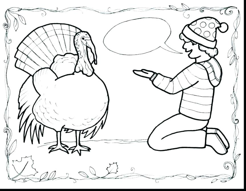 863x671 Thanksgiving Turkey Coloring Page Printable Cute Thanksgiving