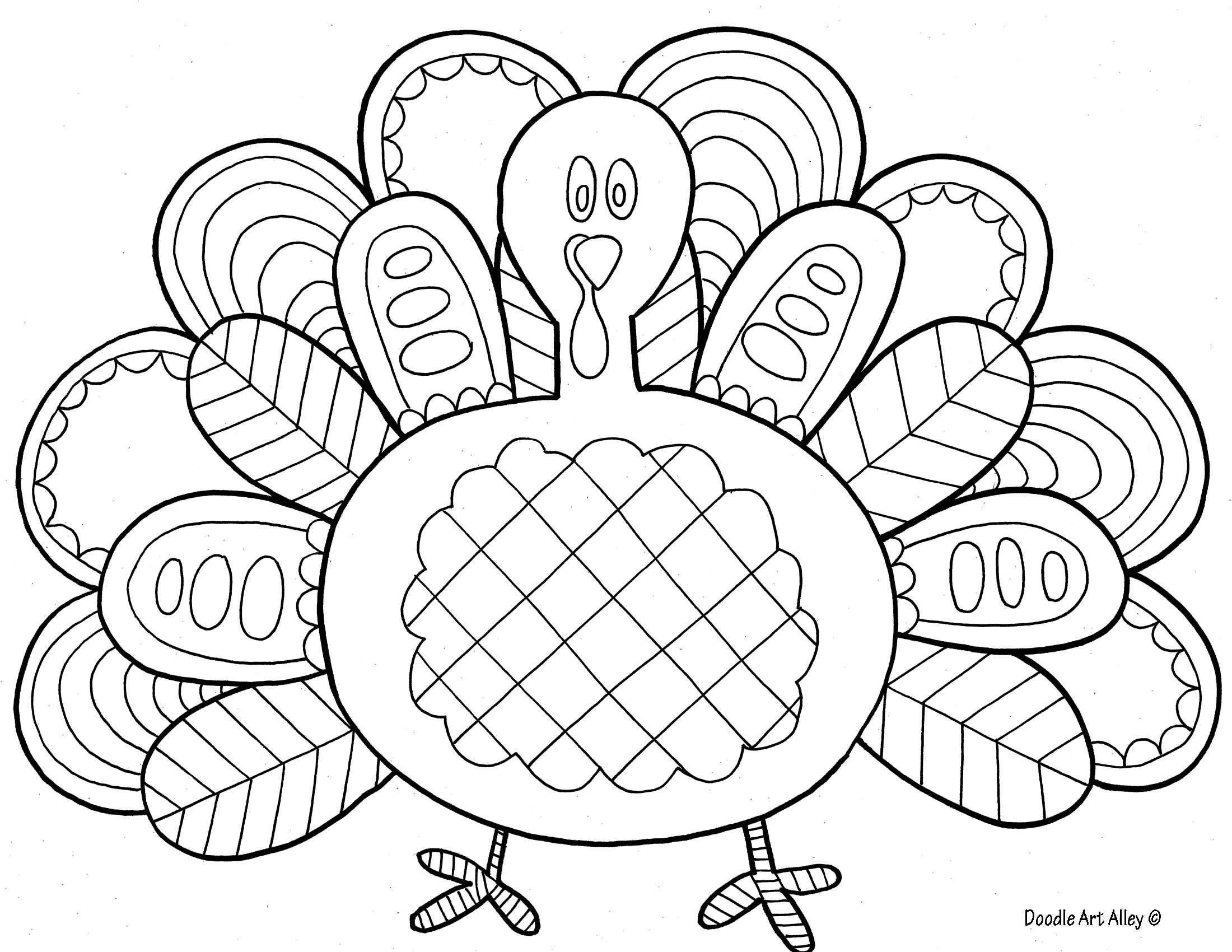 2200x1700 Thanksgiving Turkey Coloring Pages
