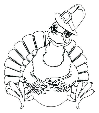 395x450 Turkey Coloring Pages