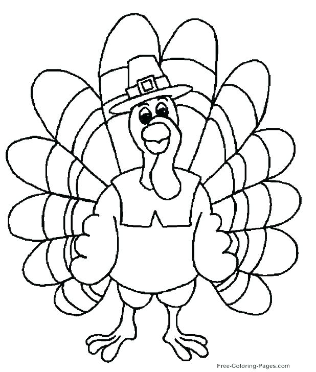 618x728 Coloring Pages Of A Turkey Thanksgiving Turkey Coloring Page