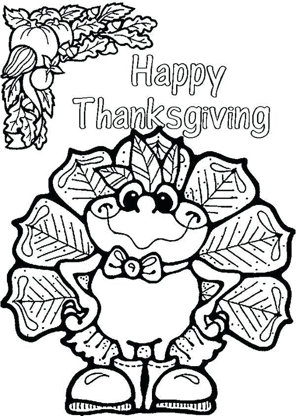 600x842 Cute Turkey Coloring Pages Free Printable Thanksgiving Coloring