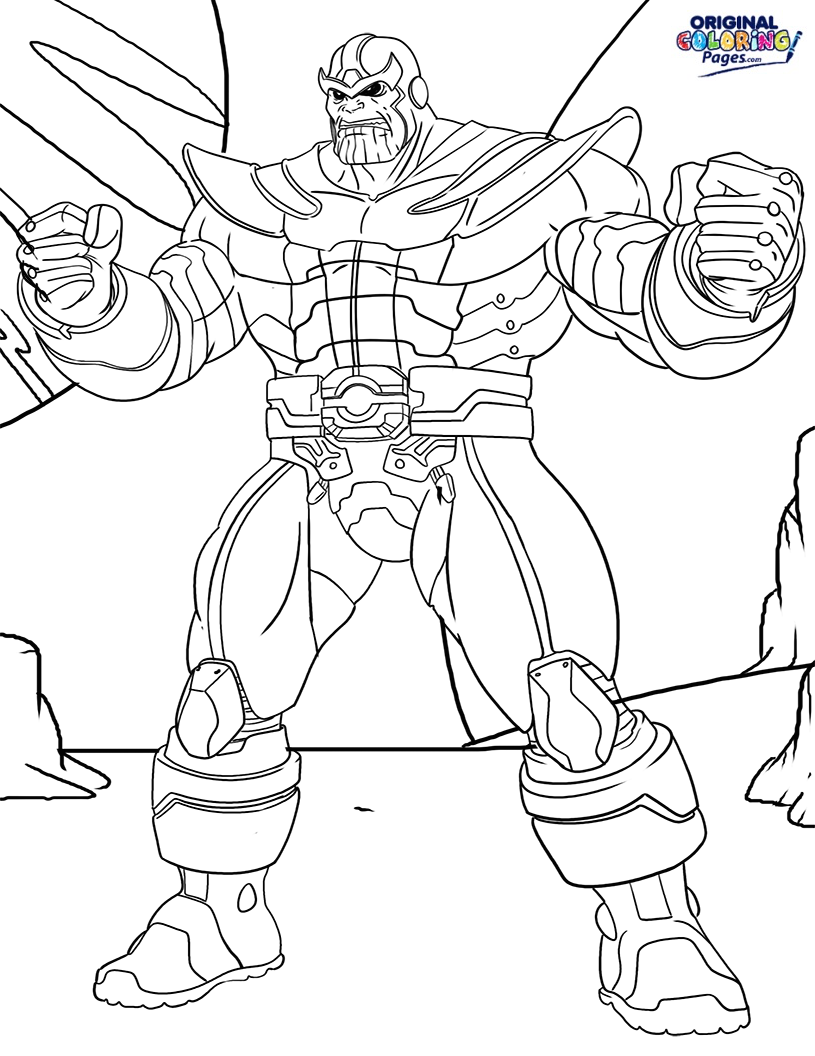 815x1056 Thanos Coloring Page Coloring Pages Original Coloring Pages