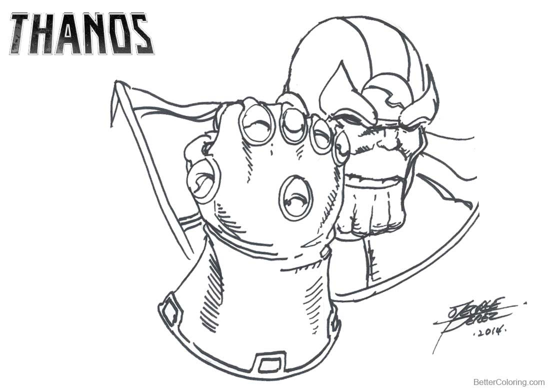 Thanos Coloring Pages At Getdrawings Free Download