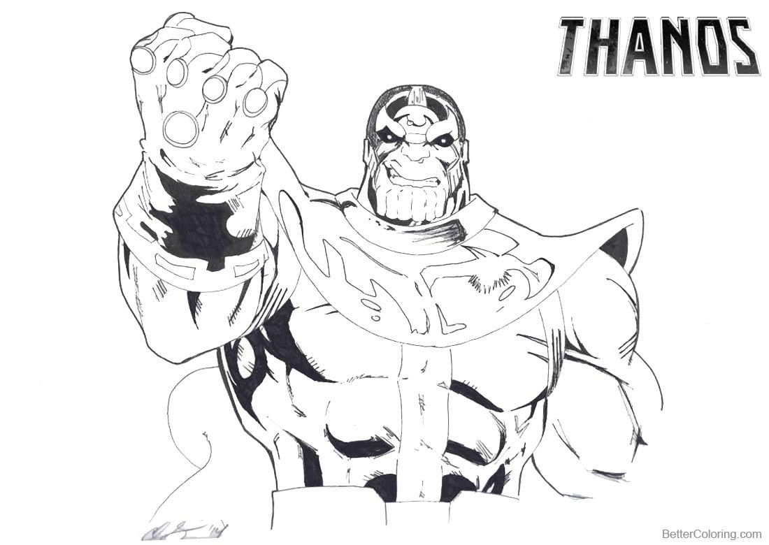Thanos Coloring Pages At Getdrawings Com Free For Personal Use
