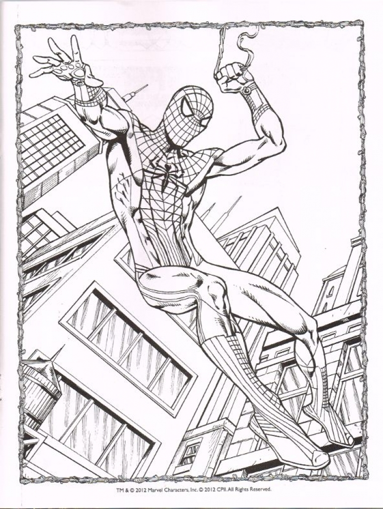 770x1024 Special Spiderman Homecoming Coloring Pages Sp