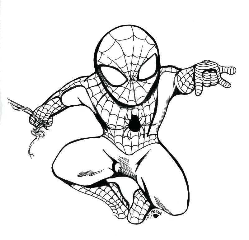 800x772 Spiderman Coloring Page Coloring Pages A The Amazing Spider Man