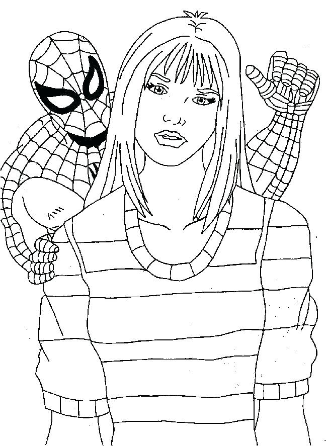 650x887 The Amazing Spider Man Coloring Pages Great Free Printable
