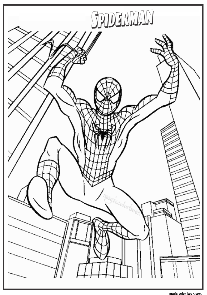 690x982 The Amazing Spider Man Coloring Pages