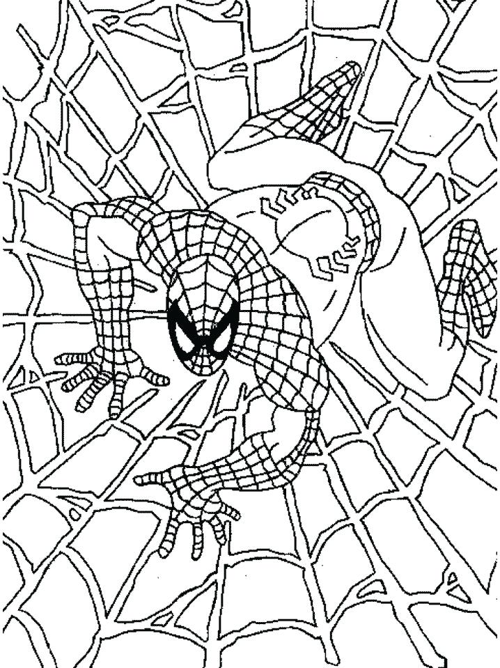 718x959 Printable Spiderman Coloring Pages