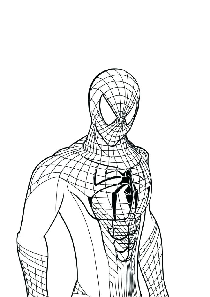 724x1024 Coloring Page Spiderman Printable Spider Man Pages Picture