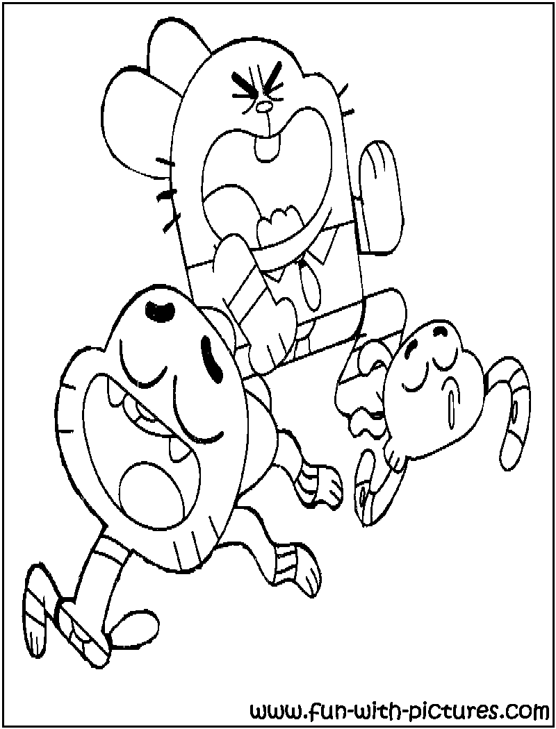 800x1050 Amazing World Of Gumball Coloring Pages Amazing World Of Gumball