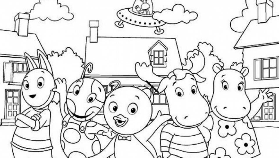 960x544 Printable Backyardigans Coloring Pages Impressive Free General