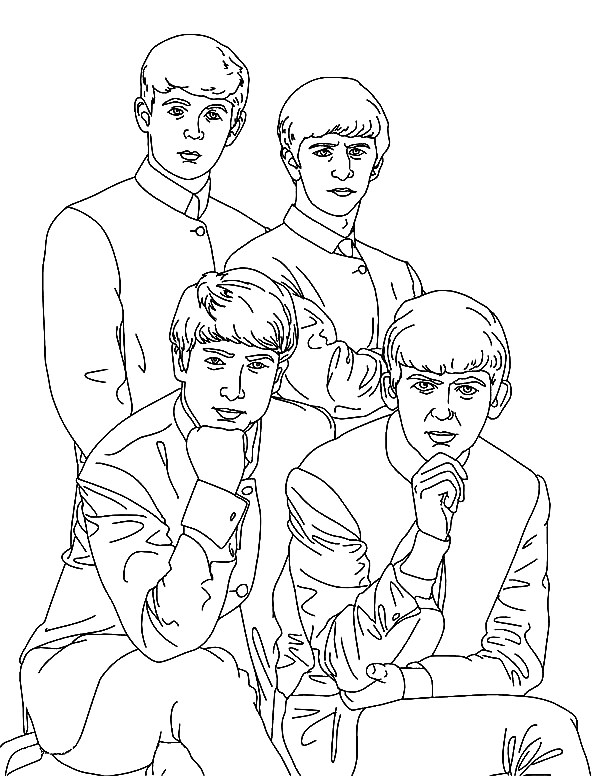 The Beatles Coloring Pages At Getdrawings Free Download