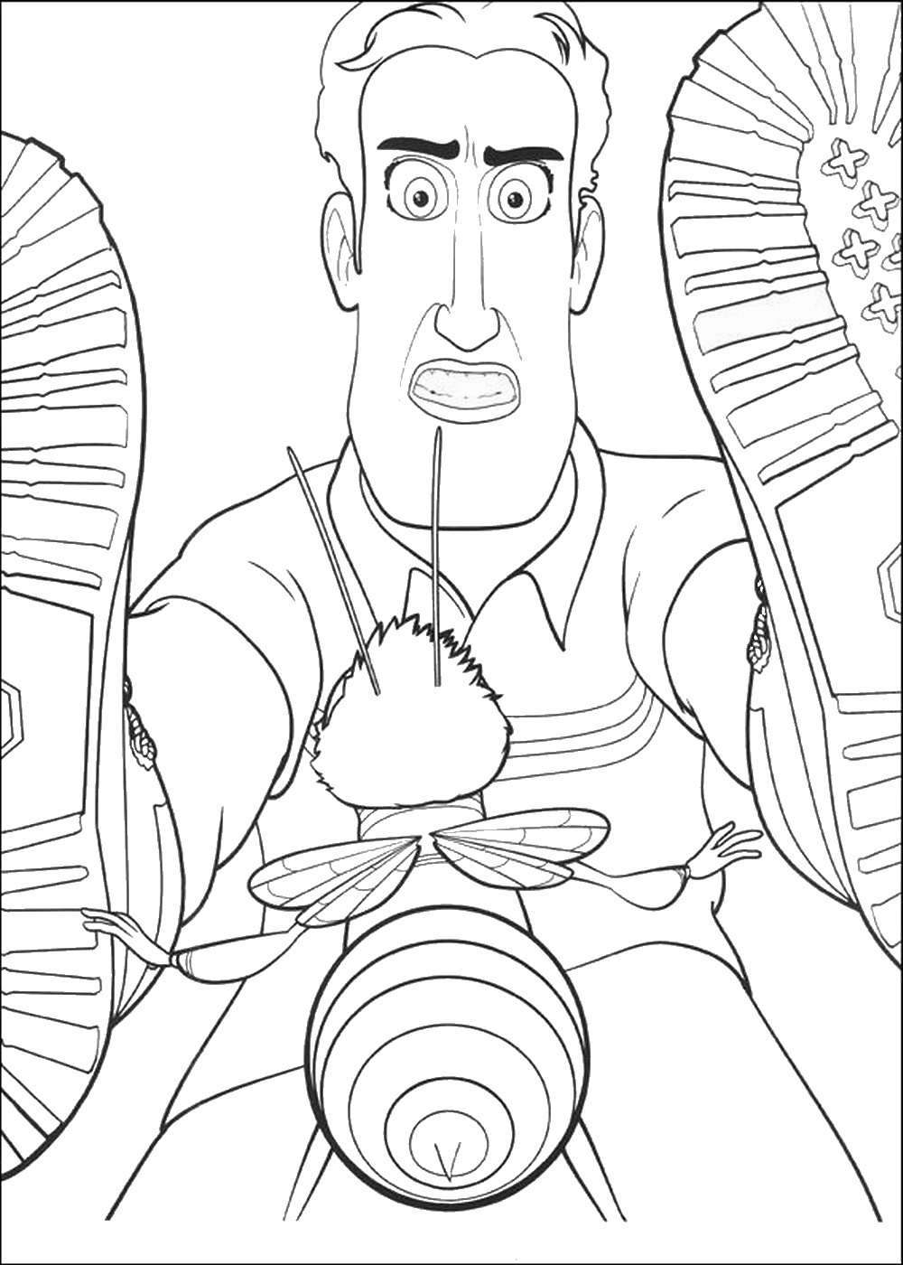 1000x1400 Bee Movie Coloring Pages