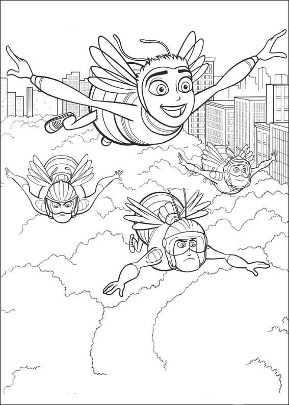 567x794 Bee Movie Coloring Pages