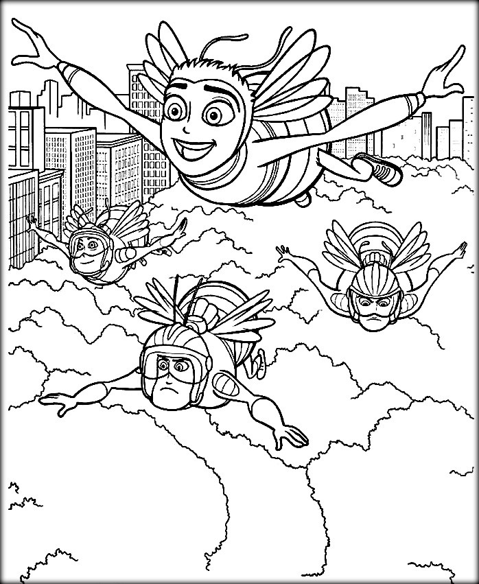 698x851 Bee Movie Coloring Pages New Maya The Bee Coloring Pages