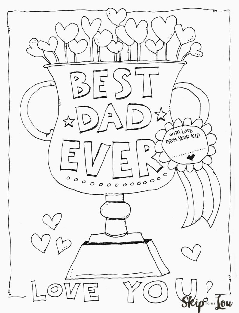 800x1050 Dad Coloring Page For The Best Dad
