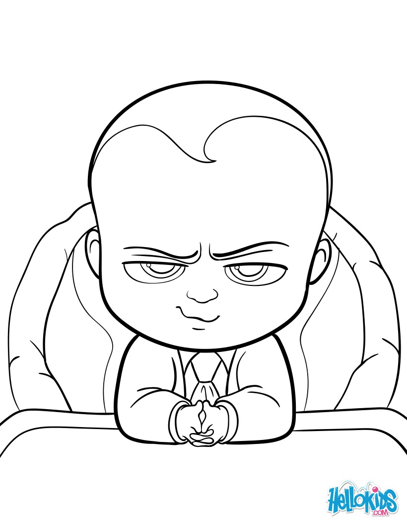 820x1060 Boss Baby Coloring Pages