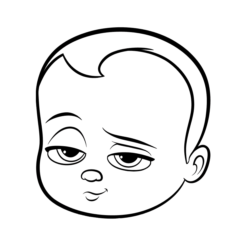 860x860 Dreamworks Boss Baby Coloring Page Baby Face
