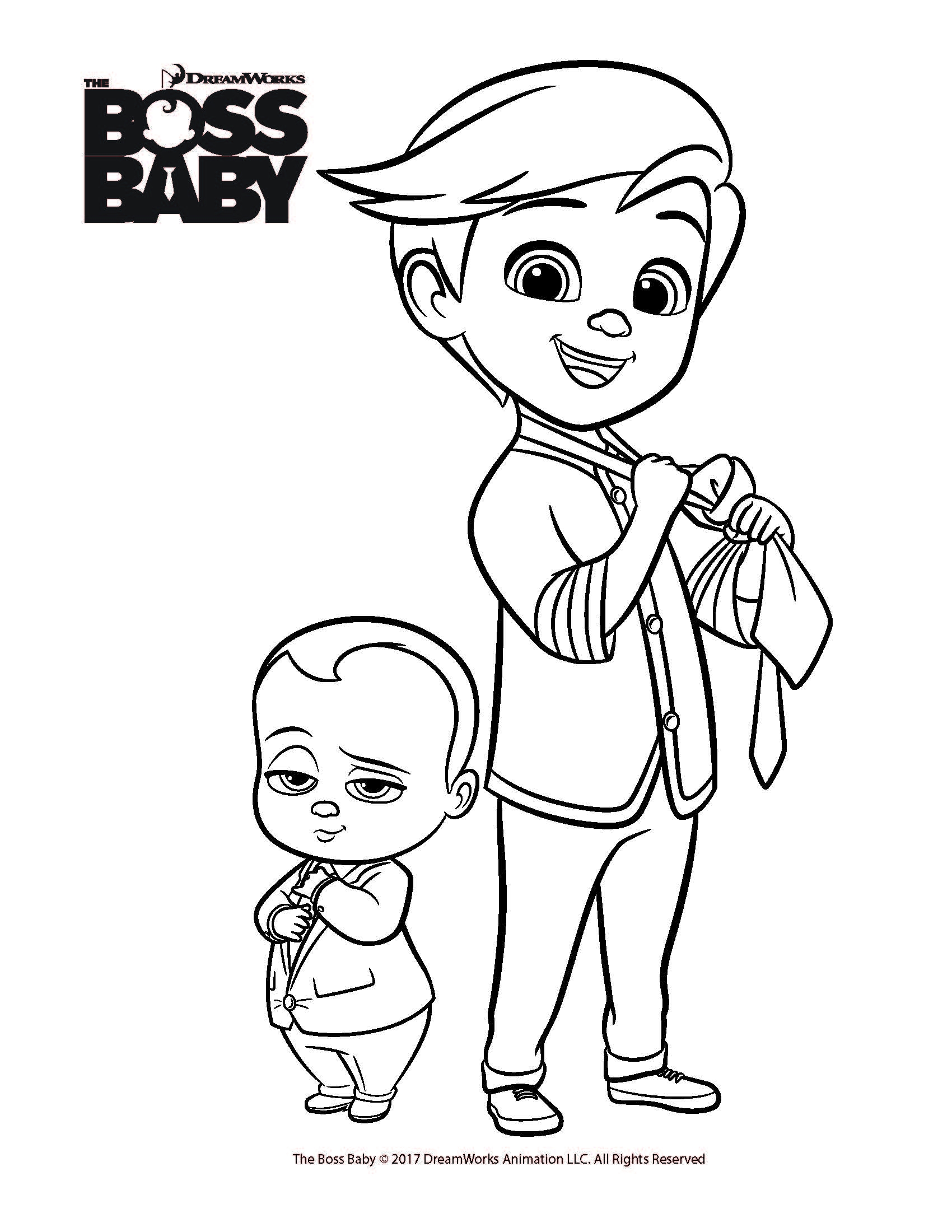 The Boss Baby Coloring Pages at GetDrawings   Free download
