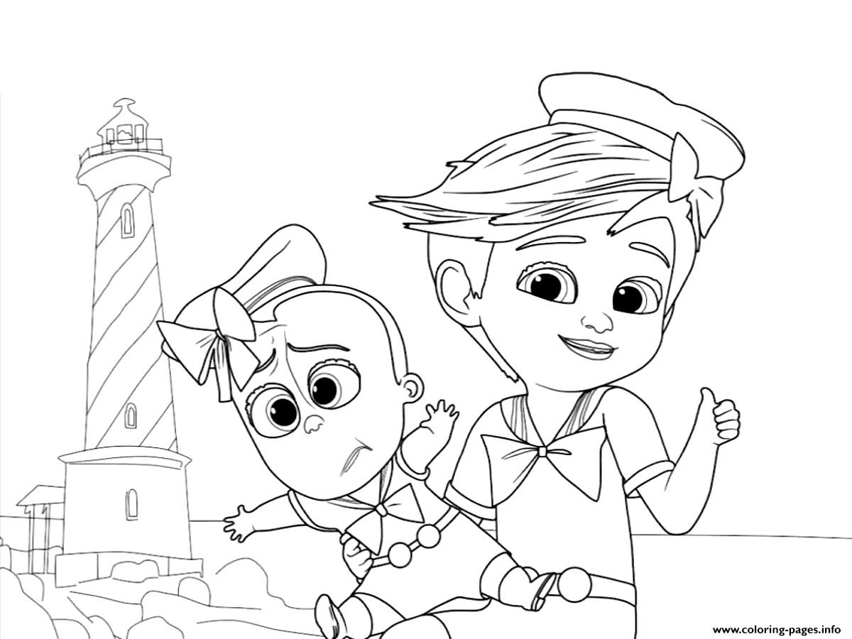 1200x900 Tim And The Boss Baby Up For Some Adventure Coloring Pages Printable