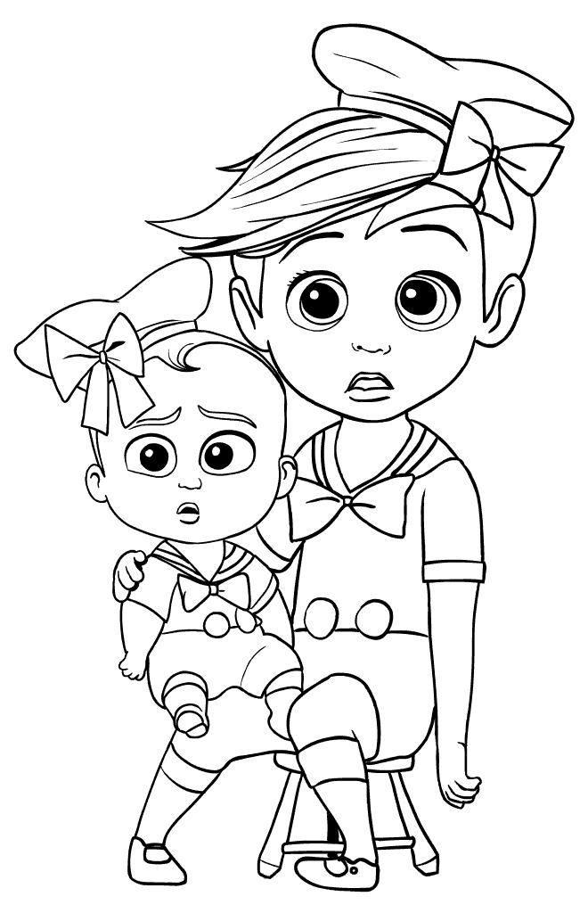 660x1024 Tim And Baby Boss Photoshot Coloring Page