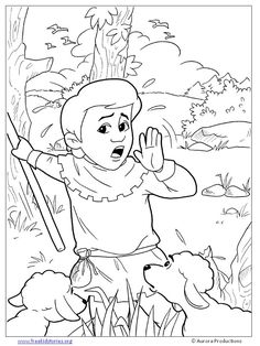 236x314 Coloring Picture Of The Boy Who Cried Wolf See More