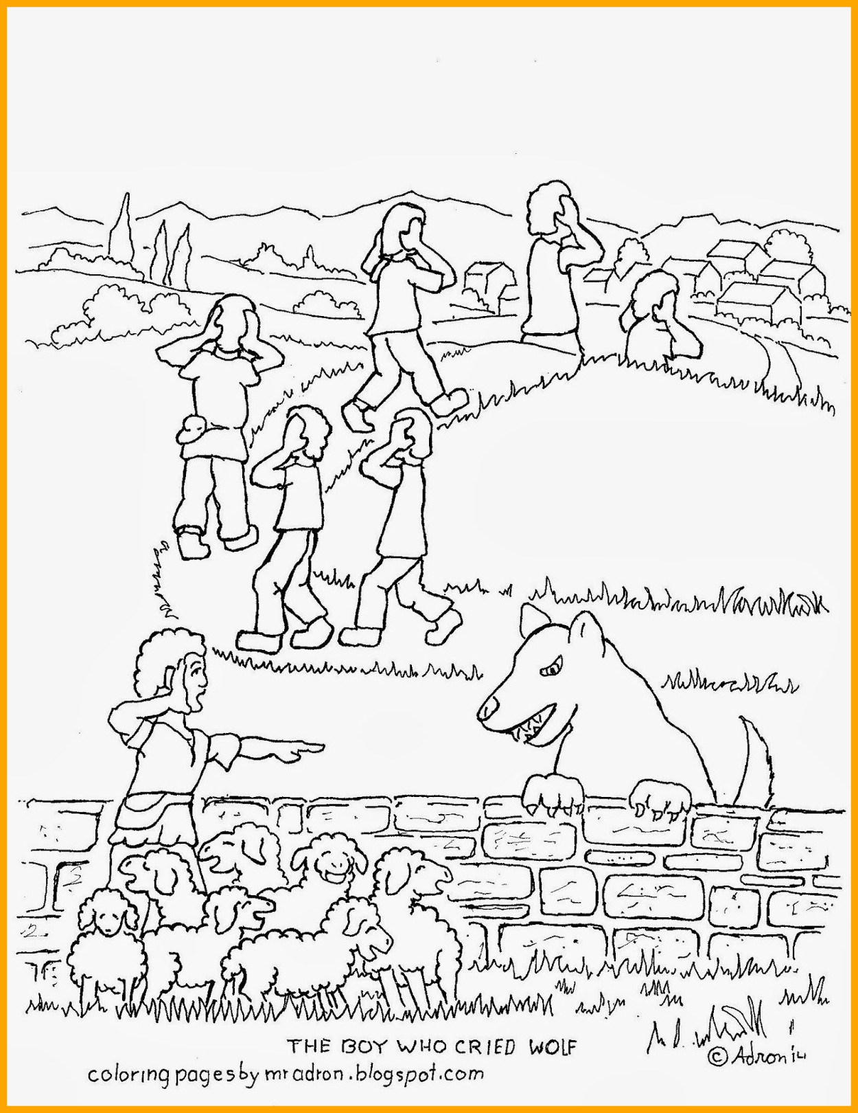 1250x1620 The Best Coloring Picture Of Boy Who Cried Wolf See More At My Ger