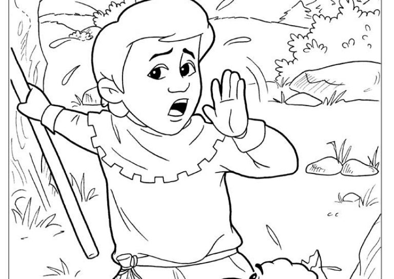 768x544 The Boy Who Cried Wolf Coloring Pages Free Kids Colouring Pictures