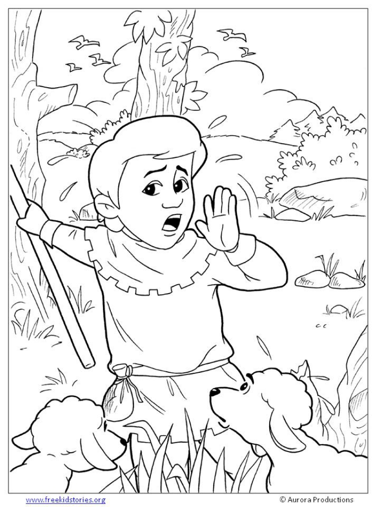 768x1024 The Boy Who Cried Wolf Coloring Pages Free Printable
