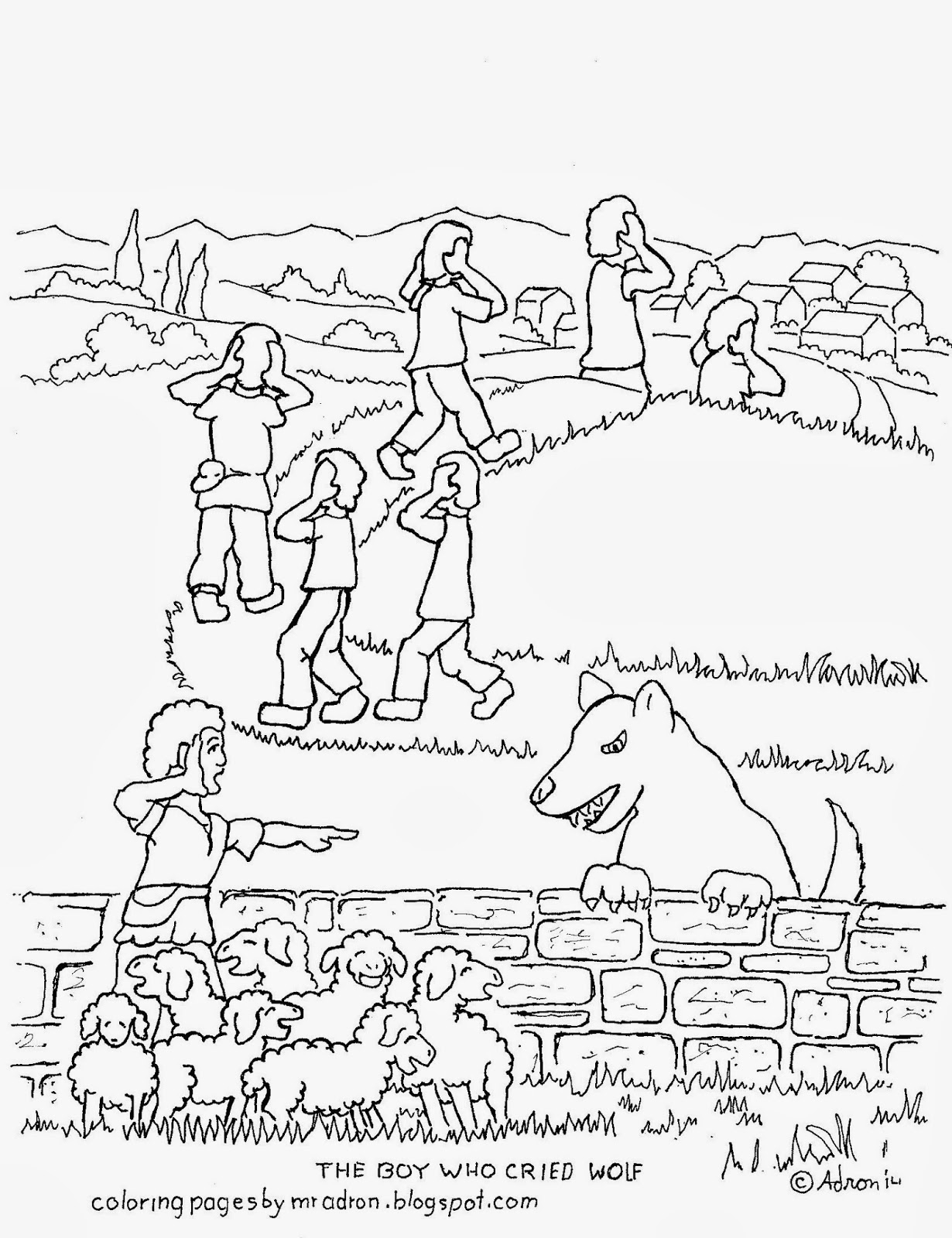 1230x1600 The Boy Who Cried Wolf Printable Coloring Pages Printable