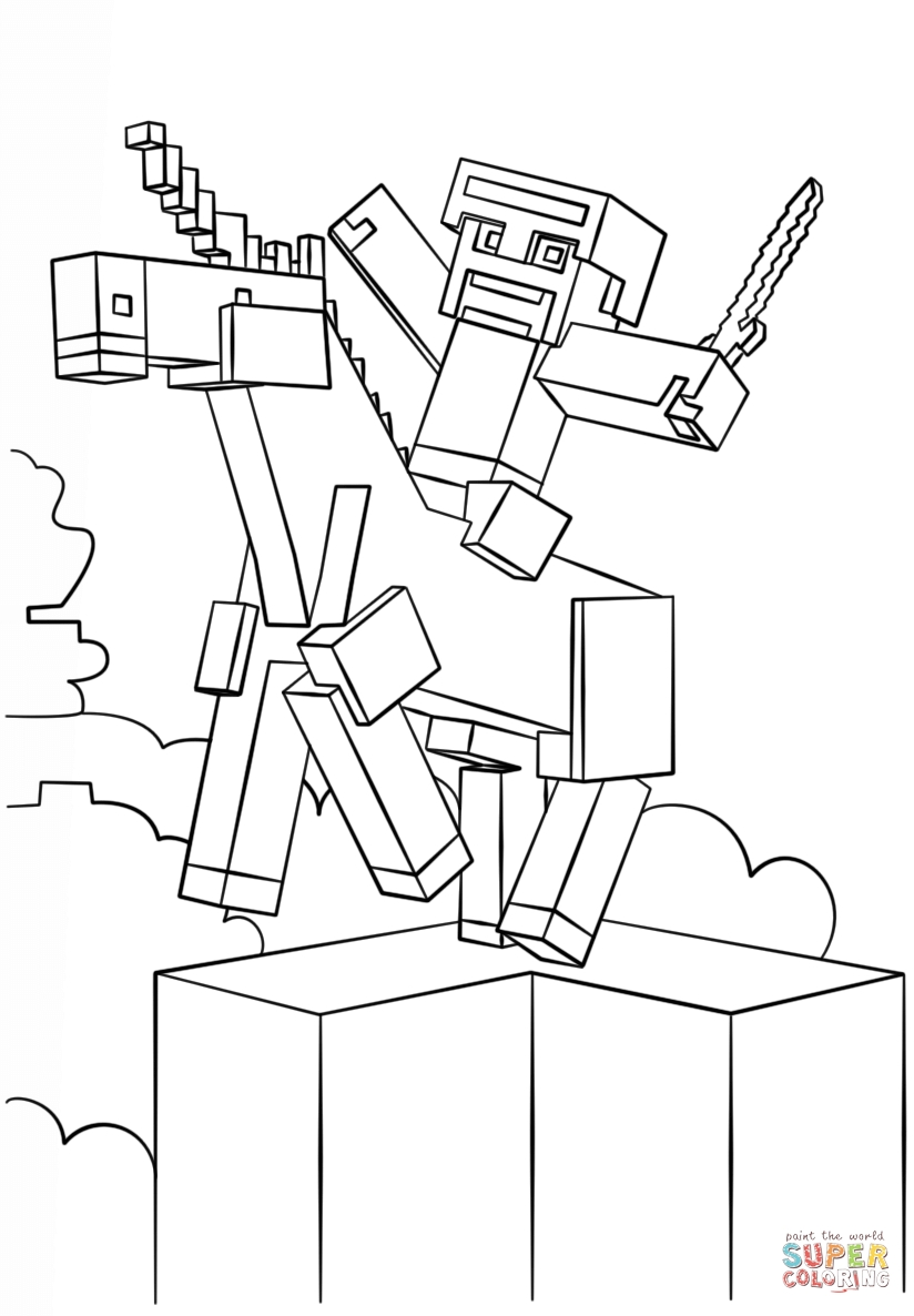 The Diamond Minecart Coloring Pages