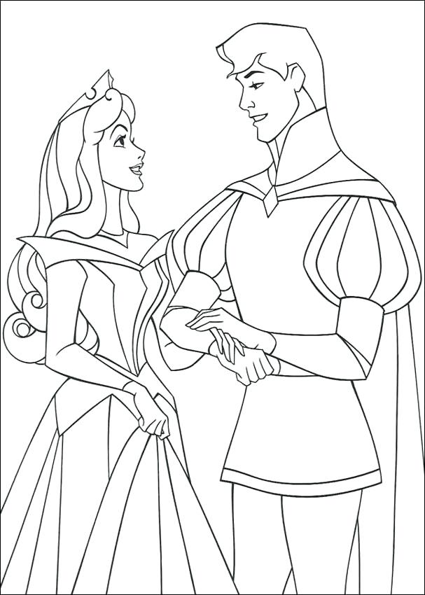 607x850 The Doll Palace Coloring Pages Aurora Waken Up