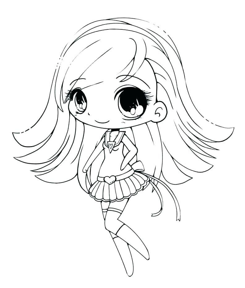 792x930 Cute Girl Coloring Pages Anime Girl Coloring Page Coloring Page